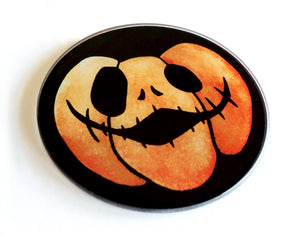 creepy cute pumpkin coaster