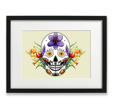 pastel goth sugar skull wall art