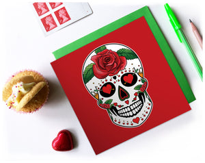 day of the dead birthday card for her