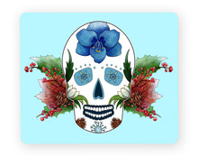 Load image into Gallery viewer, blue skull placemat gothic home decor