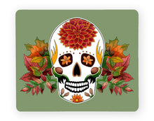 Load image into Gallery viewer, green sugar skull placemat seasonal fall decor