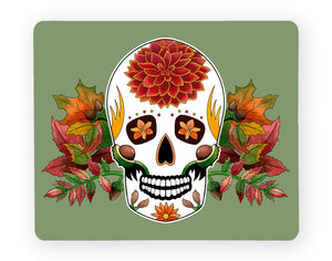 green sugar skull placemat seasonal fall decor