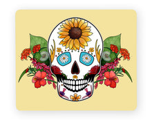 Load image into Gallery viewer, yellow sugar skull placemat gothic dining table