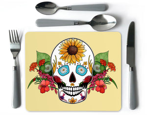 day of the dead sugar skull placemat