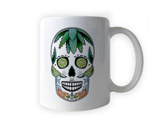 Load image into Gallery viewer, day of the dead sugar skull coffee mug