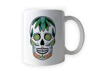 day of the dead sugar skull coffee mug