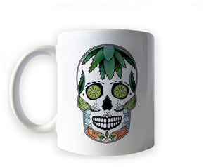 herbal and fruit tea sugar skull mug