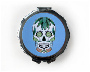 mexican skull gift idea for her in blue