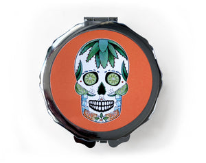 day of the dead skull gift idea for her in orange