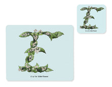 Load image into Gallery viewer, fruit and vegetable alphabet placemat and matching coaster letter e