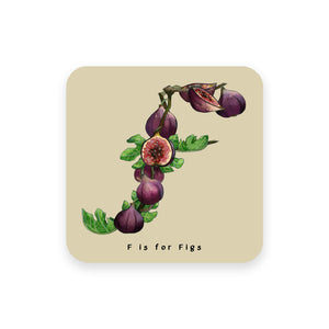 personalised foodie gift idea alphabet coaster letter f