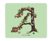 Load image into Gallery viewer, letter a initial placemat gift idea for vegan