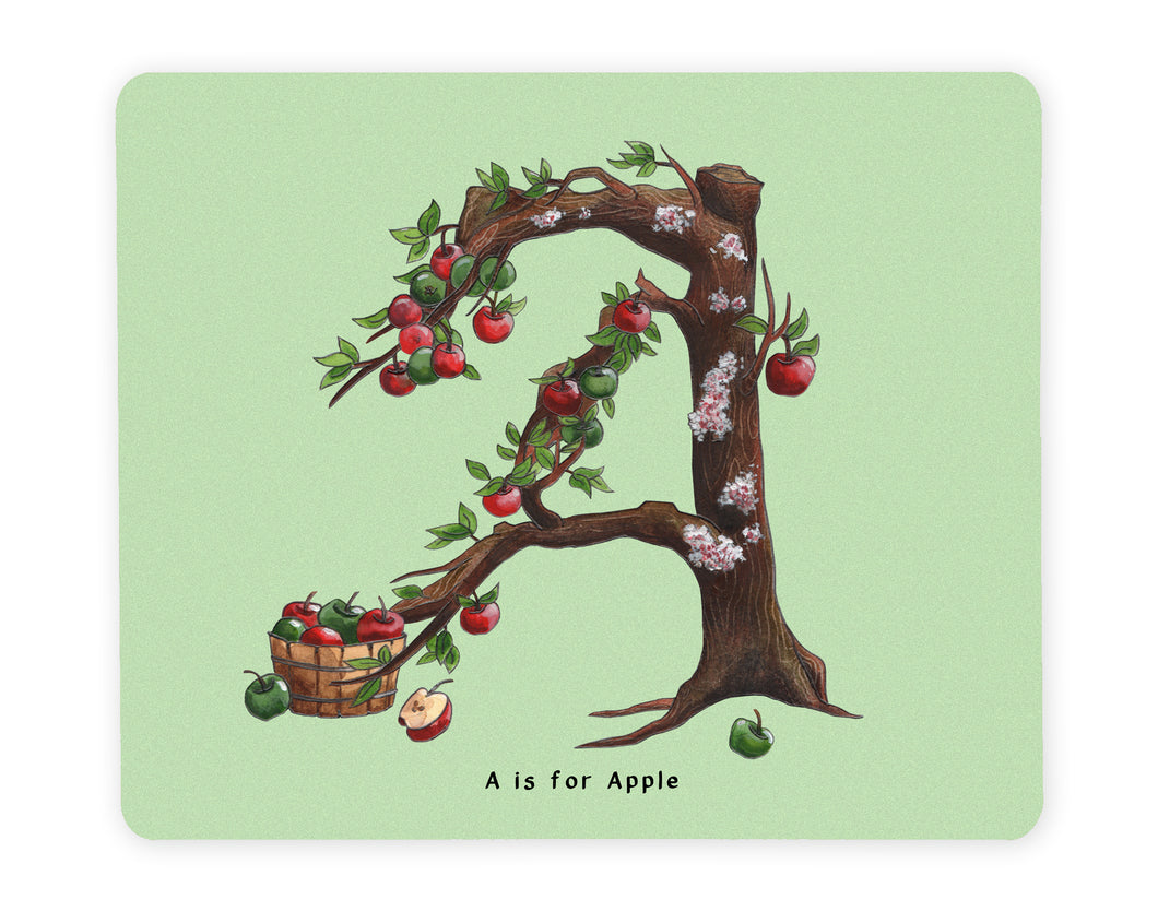 letter a initial placemat gift idea for vegan