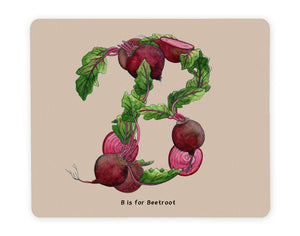 letter b personalised alphabet placemat gift idea for family