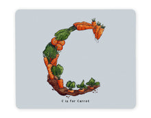 Load image into Gallery viewer, letter c personalised placemat personalised dining alphabet table mats