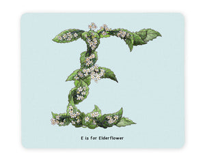 letter e alphabet placemat gift idea for vegans