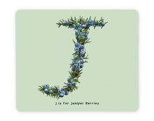 Load image into Gallery viewer, letter j alphabet placemat personalised gift idea for gin lovers