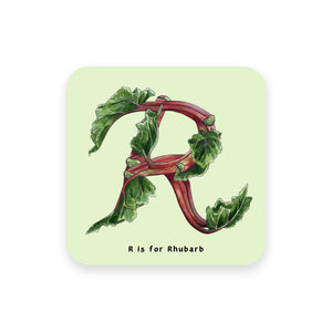 personalised foodie gift idea alphabet coaster letter r