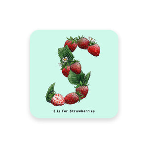 personalised foodie gift idea alphabet coaster letter s