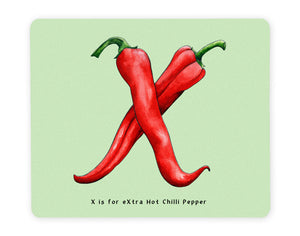 letter x personalised foodie gift idea for chilli pepper lover