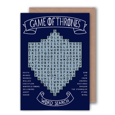funny game of thrones word search birthday card