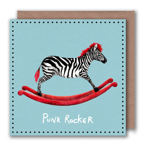 funny pun card for punk rocker birthday
