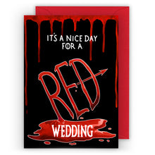 Load image into Gallery viewer, red wedding game of thrones wedding card