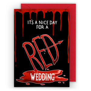 red wedding game of thrones wedding card