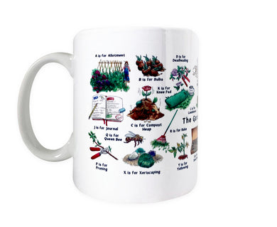 gardeners alphabet coffee mug gift idea for her