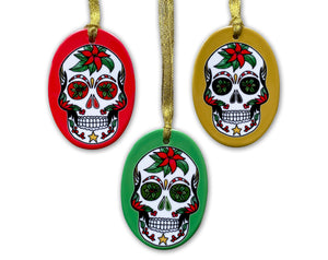 day of the dead mexican sugar skull christmas tree decorations