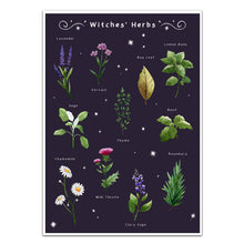 Load image into Gallery viewer, gothic home decor, witches herbs wall art