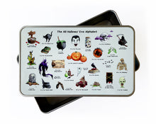 Load image into Gallery viewer, halloween storage tin for halloween candy or sweets