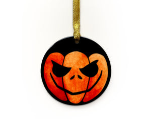 gothic gift idea for her halloween pumpkin ornament