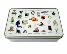 Load image into Gallery viewer, halloween decoration storage tin