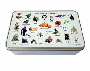 halloween decoration storage tin