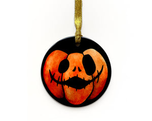 gothic home decor pumpkin ornament for halloween