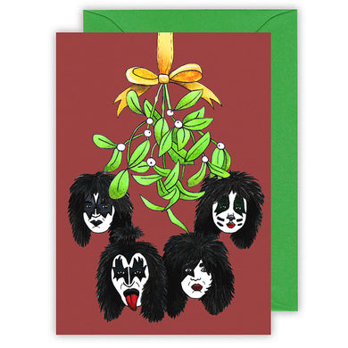 kiss the band funny christmas card for him