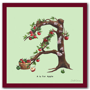 vegan gift idea personalised alphabet wall art letter b