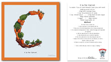 Load image into Gallery viewer, personalised kitchen wall art and recipe card alphabet letter c