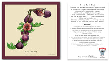 Load image into Gallery viewer, personalised kitchen wall art and recipe card alphabet letter f