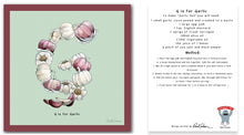 Load image into Gallery viewer, personalised kitchen wall art and recipe card alphabet letter g