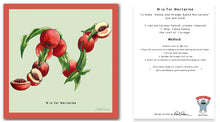 Load image into Gallery viewer, personalised kitchen wall art and recipe card alphabet letter n