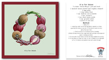 Load image into Gallery viewer, personalised kitchen wall art and recipe card alphabet letter o