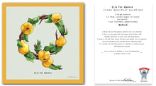 Load image into Gallery viewer, personalised kitchen wall art and recipe card alphabet letter q