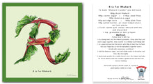 Load image into Gallery viewer, personalised kitchen wall art and recipe card alphabet letter r