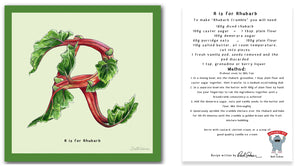 personalised kitchen wall art and recipe card alphabet letter r