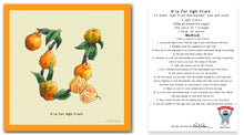 Load image into Gallery viewer, personalised kitchen wall art and recipe card alphabet letter u