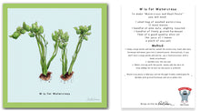 Load image into Gallery viewer, personalised kitchen wall art and recipe card alphabet letter w