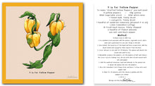 Load image into Gallery viewer, personalised kitchen wall art and recipe card alphabet letter y