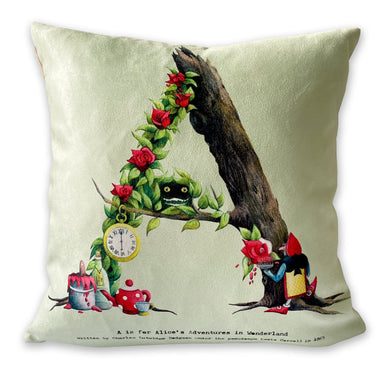 letter a alphabet cushion personalised gift idea for her
